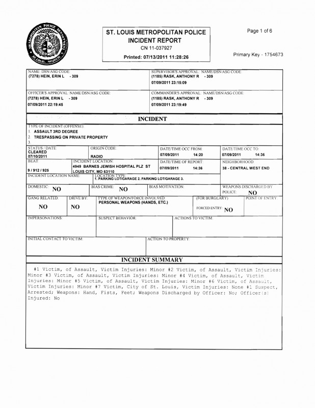 Incident Summary Report Template Unique Police Report Template Glendale Community Document For Fake