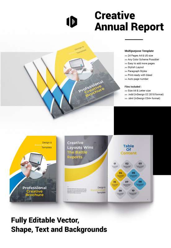 Ind Annual Report Template New Report Indesign Project Template On Behance