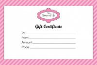Indesign Gift Certificate Template Awesome Custom Gift Certificate Templates Sazak Mouldings Co