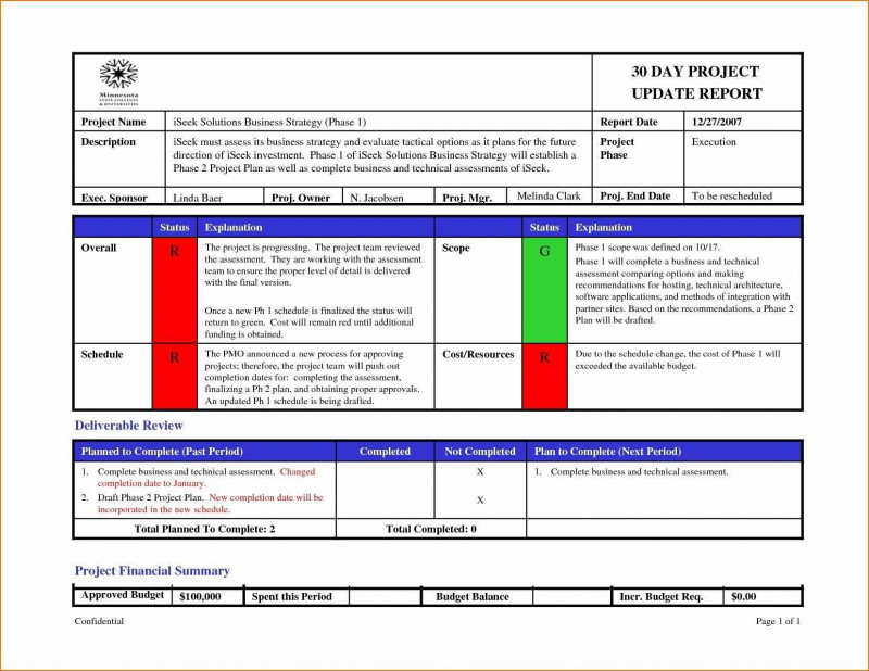 It Progress Report Template Unique Project Completion T Template Excel Schedule Status Ideas Team