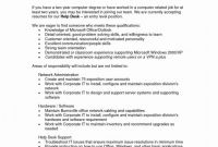 It Support Report Template Professional It Support Resume New Resume format for Experienced Technical