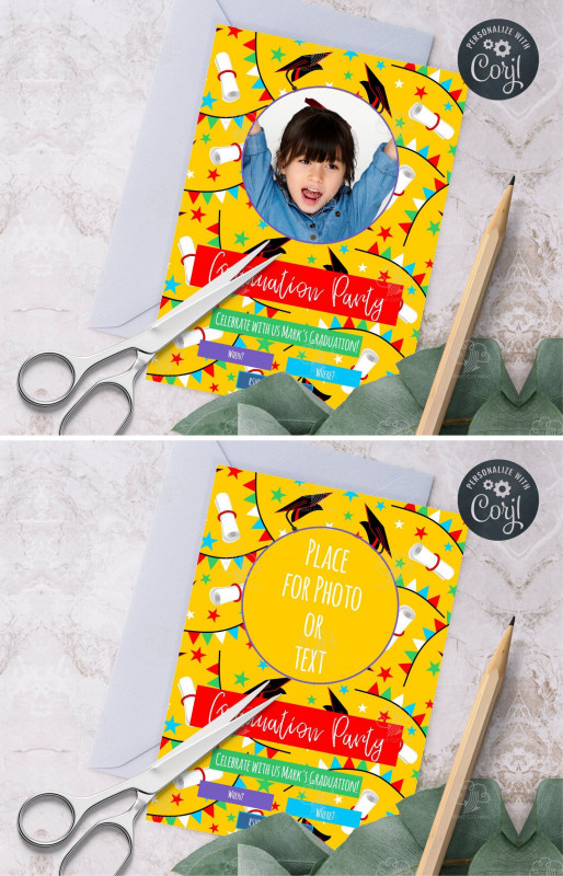 Kids Gift Certificate Template Unique Custom Graduation Invites Template for Younger Kids Yellow