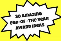 Leadership Award Certificate Template Awesome 30 Amazing End Of the Year Award Ideas Teacher Created Tips