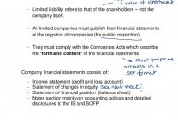 Llc Annual Report Template Unique Company Accounts Lecture Notes 17 18 825z1201 Financial