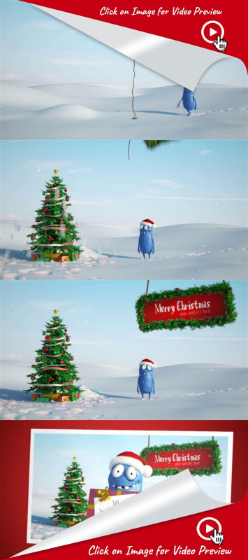 Merry Christmas Gift Certificate Templates New 3d Animation Card Cartoon Character Christmas Funny Gift