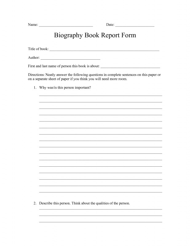 Middle School Book Report Template New 003 Biography Book Report Template Awful Ideas 3rd Grade 5th 4th