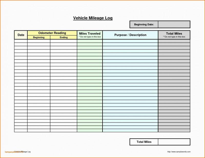 Mileage Report Template New Mileage Spreadsheet Template Mileage Log Template For Self Employed