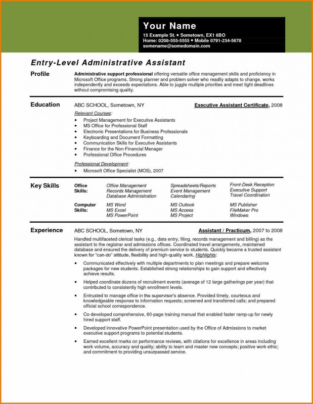 Monitoring Report Template Clinical Trials Unique Resume Samples Executive Assistant Valid Medical Administrative