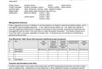Monthly Status Report Template Project Management Professional Sample Project Status Report Sazak Mouldings Co