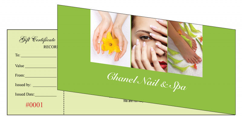 Nail Gift Certificate Template Free Awesome Salon Gift Certificate Templates Resume Free Printable Beauty
