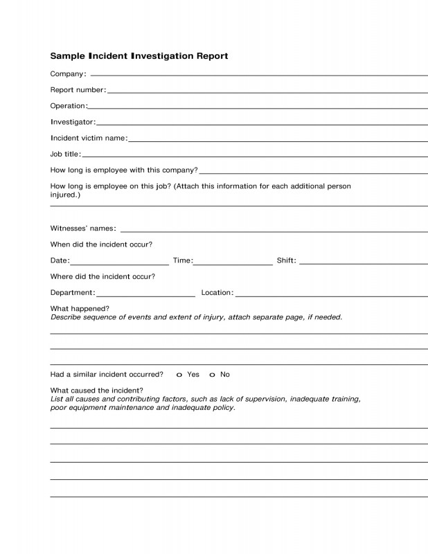 Near Miss Incident Report Template Awesome Example Incident Report Writing Sazak Mouldings Co