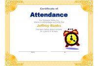 Perfect attendance Certificate Template Awesome Certificate Of Recognition Template Word Award Free Brochure
