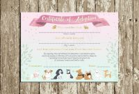 Pet Adoption Certificate Template Awesome Puppy Adoption Certificate Printable Puppy Birthday Party Etsy