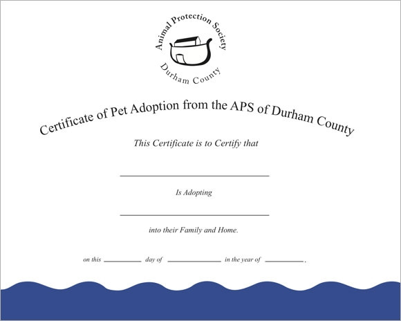 Pet Adoption Certificate Template Awesome Sample Adoption Certificate Template 18 Documents In Pdf Psd