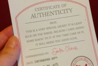 Photography Certificate Of Authenticity Template Awesome Rivkas Renditions Santas toy Factory Certificate Of Authenticity