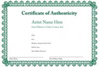 Photography Certificate Of Authenticity Template New Letter Of Authenticity Template Koman Mouldings Co
