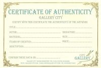 Photography Certificate Of Authenticity Template Unique 002 Template Ideas Certificate Of Authenticity Unforgettable Free