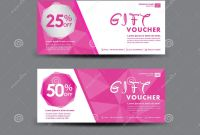 Pink Gift Certificate Template Unique Aˆš Wedding Gift Card Design Template
