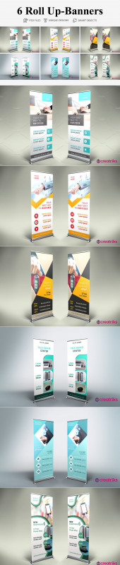 Pop Up Banner Design Template Awesome 6 Roll Up Banners Templates Creative Market