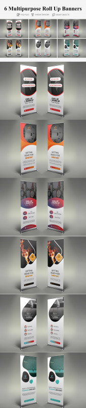 Pop Up Banner Design Template Unique Roll Up Banners 015 Other Presentation Software Templates