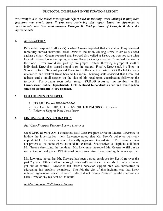 Presentence Investigation Report Template Unique Workplace Investigation Report Template Eymir Mouldings Co