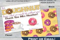 Printable Gift Certificates Templates Free Awesome Donut Thank You Gift Card Holder Editable Thank You Doughnut Thank Yo