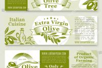 Product Banner Template Unique Olive Oil Product Banners Templates Fresh Stock Vector Royalty Free