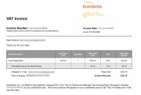 Production Status Report Template Awesome How to Get A Tax Invoice for Your order eventbrite Help Centre