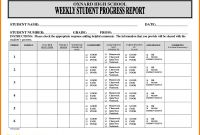 Progress Report Template Doc Unique Sample Student Progress Report Sazak Mouldings Co