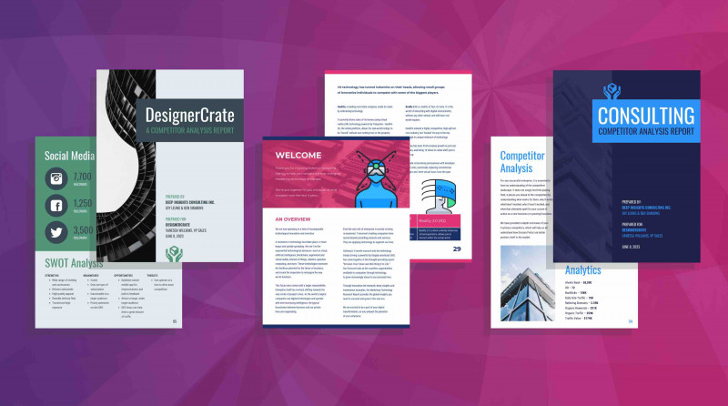 Project Analysis Report Template Professional 19 Consulting Report Templates That Every Consultant Needs Venngage