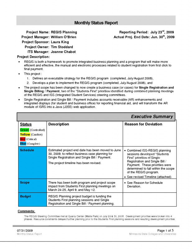 Project Report Template Latex Professional Project Report Excel Format For Bank Loan Status Template Free