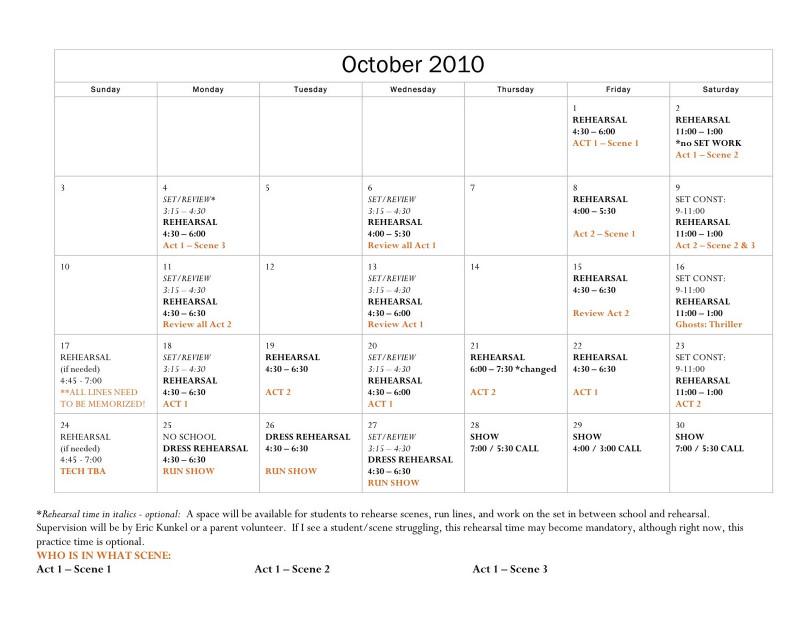 Rehearsal Report Template Professional Rehearsal Calendar Template Sazak Mouldings Co