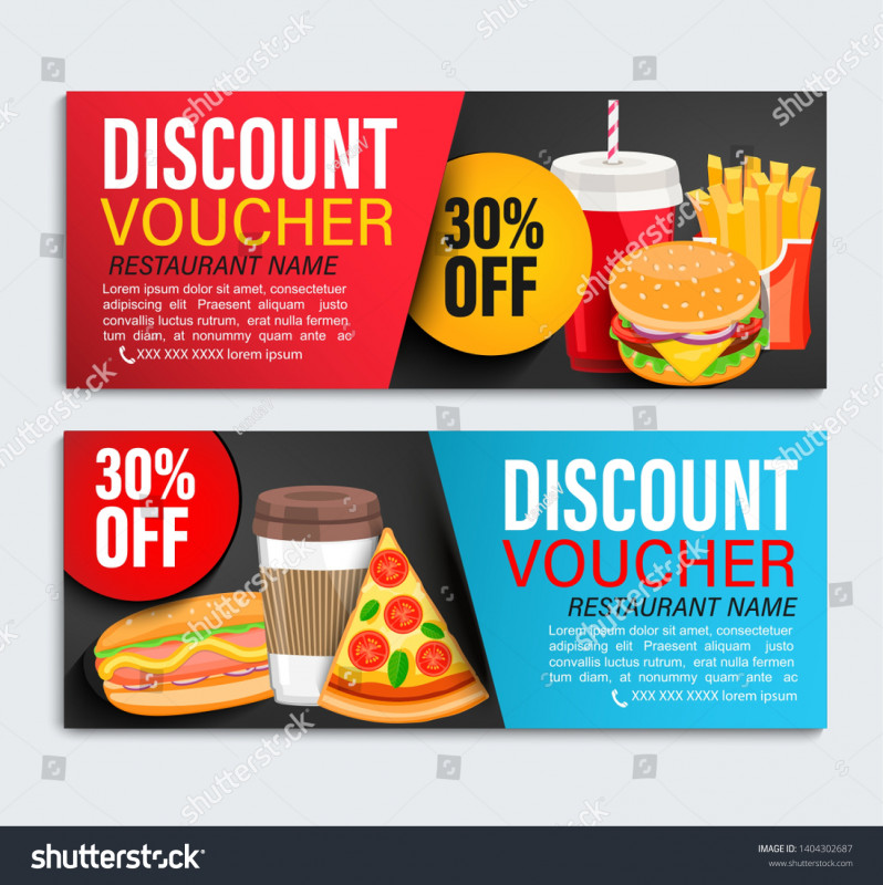 Restaurant Gift Certificate Template Awesome Set Od Discount Gift Vouchers Restaurans Stock Vector Royalty Free