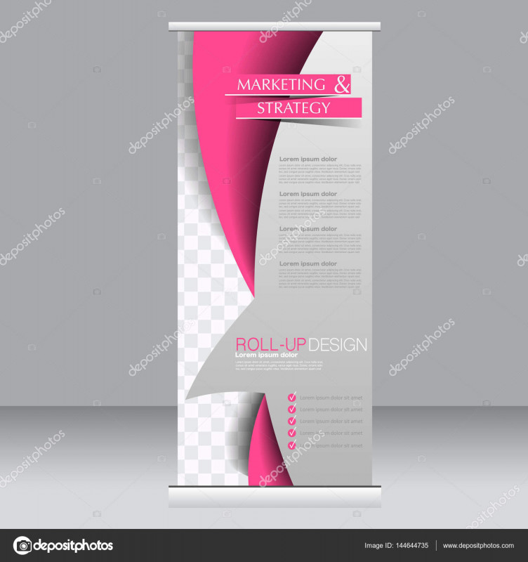 Retractable Banner Design Templates Unique Roll Up Banner Stand Template Stock Vector A Milana88 144644735