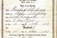 Roman Catholic Baptism Certificate Template New Baptism Certificate Template Tubidportal Com
