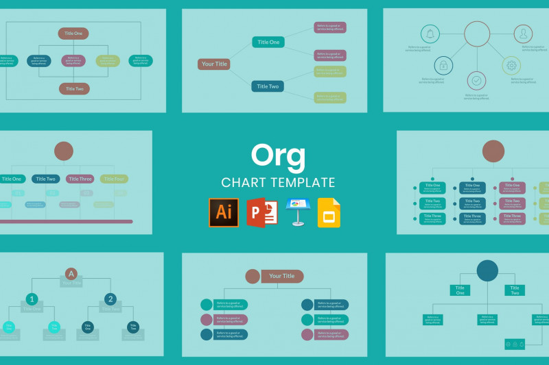 Sales Funnel Report Template Unique Org Chart Template Powerpoint Templates Creative Market