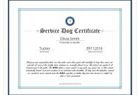 Service Dog Certificate Template Unique Free Dog Birth Certificate Fabulous Free Puppy Birth Certificate