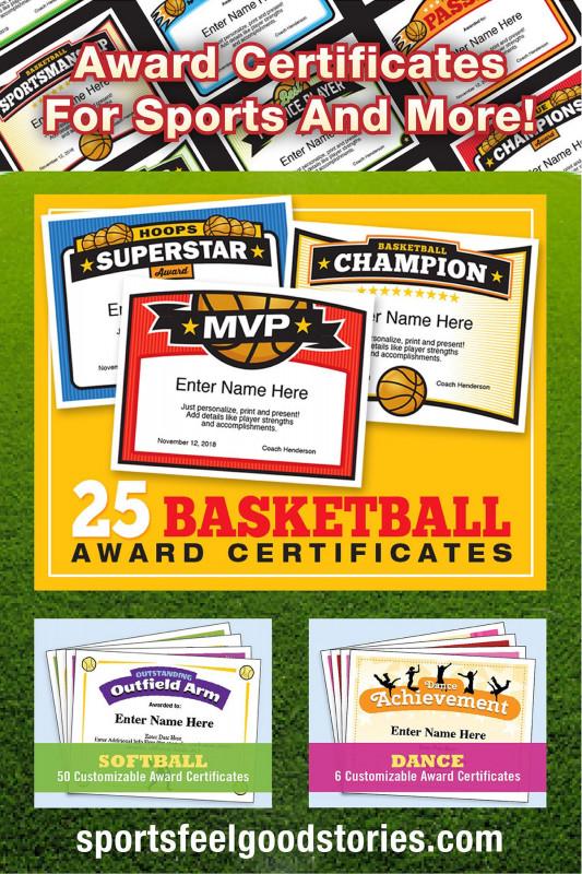 Softball Award Certificate Template Awesome Sports Award Certificate Template Maco Palmex Co