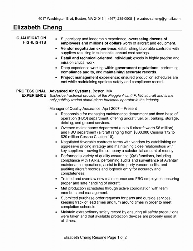 Software Quality Assurance Report Template New 96 Quality Resume Template Automotive Quality Engineer Sample