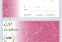 Spa Day Gift Certificate Template Awesome Salon Gift Certificate Templates Resume Free Printable Beauty