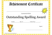Spelling Bee Award Certificate Template New Bee Certificate Template Word Certificatetemplateword Com