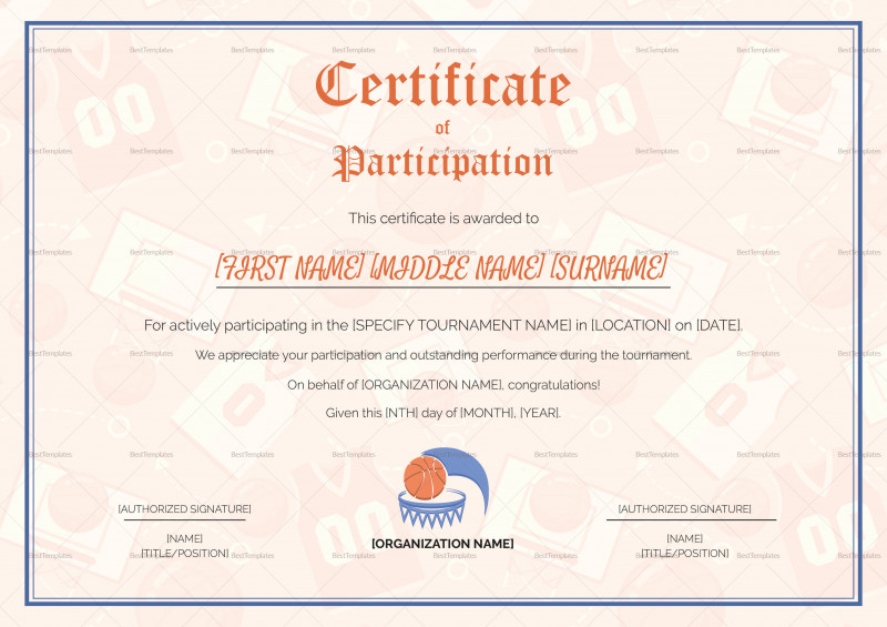 Sports Award Certificate Template Word Awesome Certificate Template In Football Sport theme with Color St New