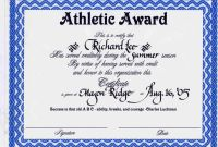 Sports Award Certificate Template Word Unique athletic Certificate Template Sports Templates for Word Basketball