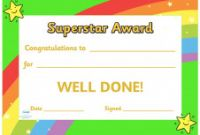 Star Certificate Templates Free Awesome Twinkl Resources Super Star Award Certificate Thousands Of
