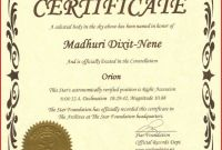 Star Naming Certificate Template Awesome Star Naming Certificate Template Bizoptimizer Us