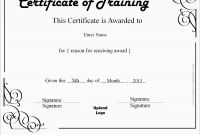 Stock Certificate Template Word New Luxury Training Certificate Template Free Best Of Template