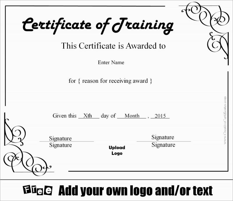 Stock Certificate Template Word New Luxury Training Certificate Template Free Best Of Template