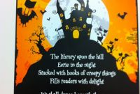 Story Skeleton Book Report Template Professional the Library Upon the Hill Cute Halloween Poem Happy Halloween