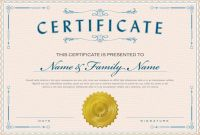 Summer Camp Certificate Template New Necessary Parts Of An Award Certificate