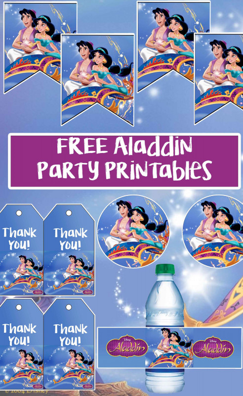 Sweet 16 Banner Template Unique Free Aladdin Birthday Party Printable Files Banner Cupcake